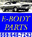 E-Body Parts And Restoration Logo